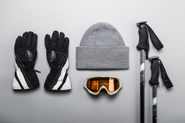 Winter sports and skiing gear