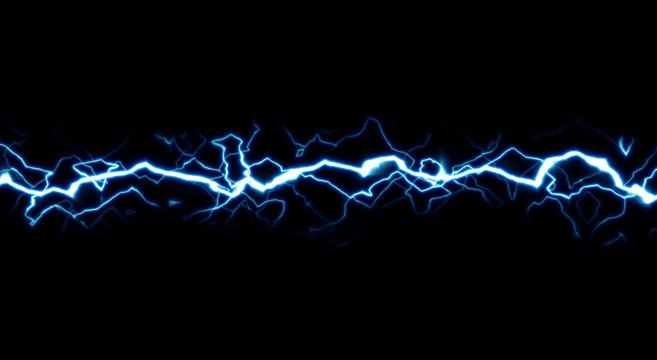 Cartoon lightning style isolated on black background