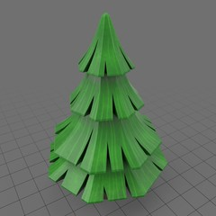 Stylized pine tree