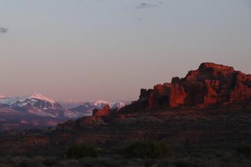 Papiers peints Aubergine Arches National Park, Moab, Utah USA