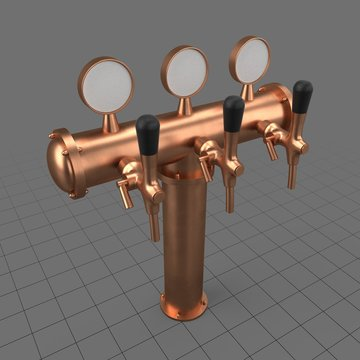 Triple beer tap