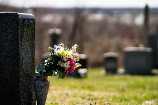 Flowers on Gravesite