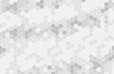 Black and white hexagon honeycomb seamless pattern. Honey background, cell mosaic. Fototapete