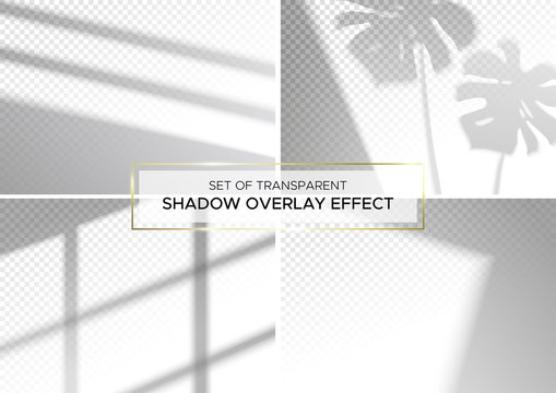 Set of transparent shadow overlay effects.