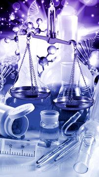 image of laboratory equipment close-up