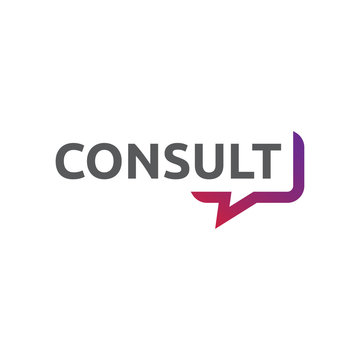 Bubble speech logo design concept related to consultant or translator