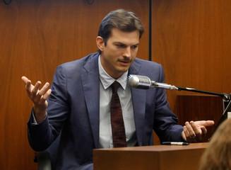Actor Ashton Kutcher testifies at the murder trial of accused serial killer Michael Thomas Gargiulo in Los Angeles