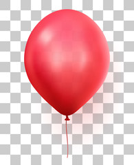 Red transparent party ballon
