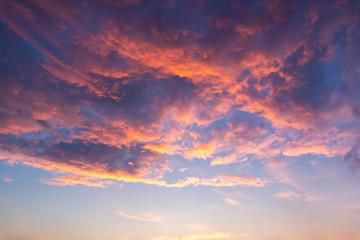 Dramatic sky on sunset