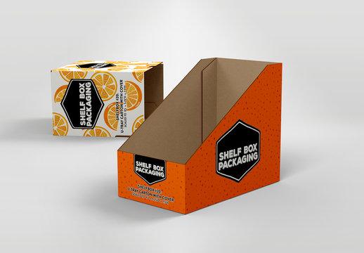 Tall Rectangular Shelf Box Mockup