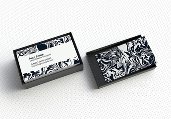 Modern Business Card Layout with Abstract Zebra Pattern
