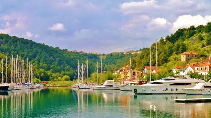 Bucht am Meer von Kroatien Krka