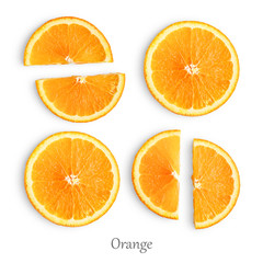 Wall Mural - Orange slices isolated