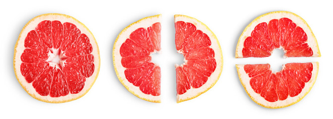 Wall Mural - Grapefruit slices isolated