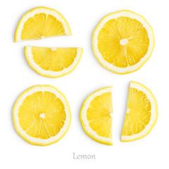 Wall Mural - Lemon slices isolated