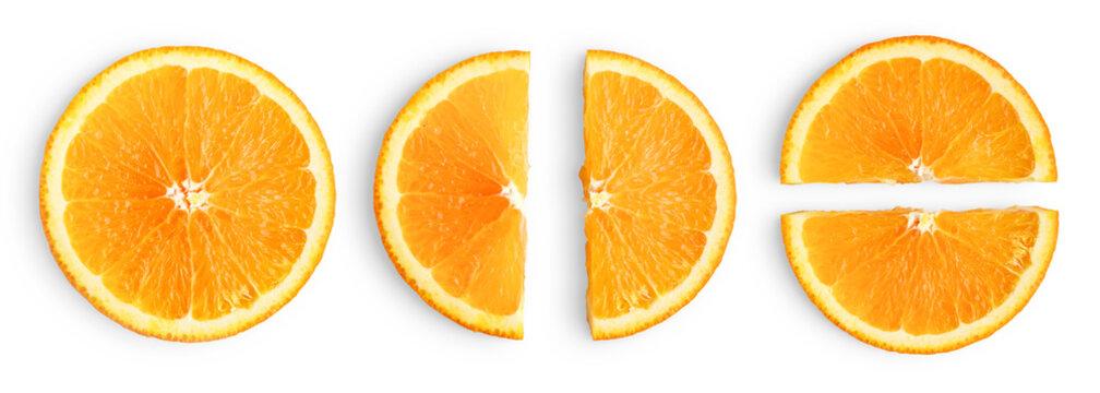Orange slices isolated