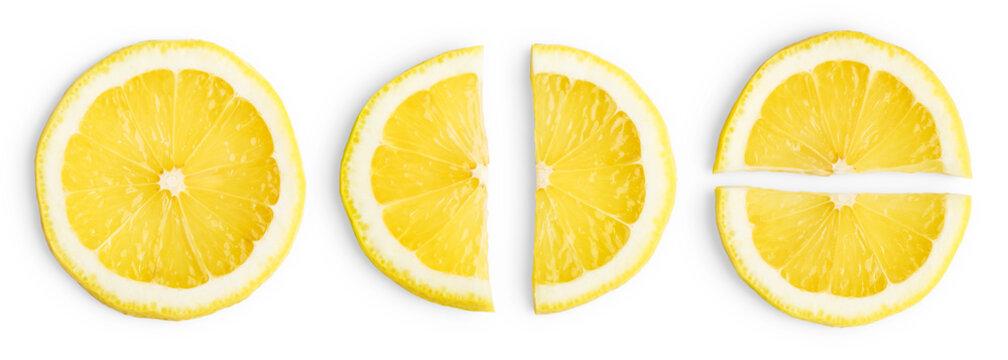 Lemon slices isolated