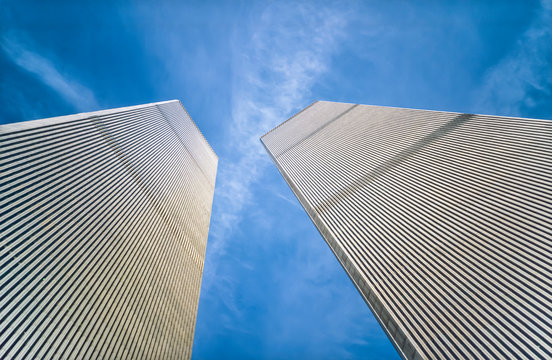 The Twin Towers of the World Trade Center, Manhattan, New York, USA