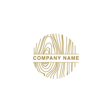 Wood Logo, Wood Texture , Wood Grain Vector
