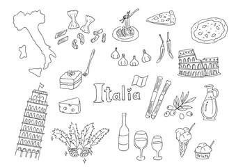 イタリアのイラストセット