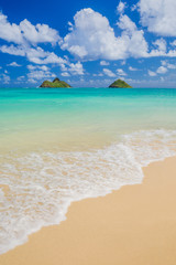 Fototapete - Lanikai Beach in Kailua Oahu Hawaii