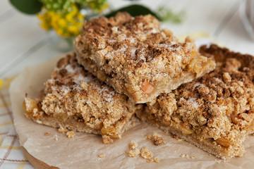 sweet homemade cake. fruit pie. homemade baking. dessert. traditional cuisine.