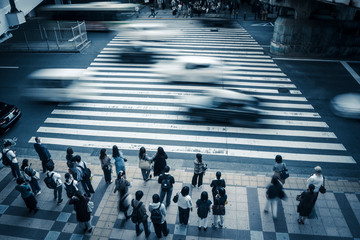 横断歩道・人々
