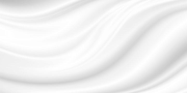 White cosmetic cream background
