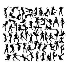 Hip Hop Silhouettes, art vector design