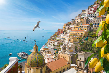 Deurstickers Mediterraans Europa Beautiful Positano on Amalfi Coast in Campania, Italy