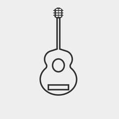 Guitar vector icon illustration sign