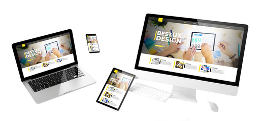 Wall Mural - flying devices ux design responsive website