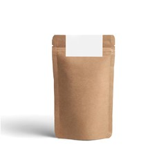 Blank packaging recycled paper bag, coffee bag