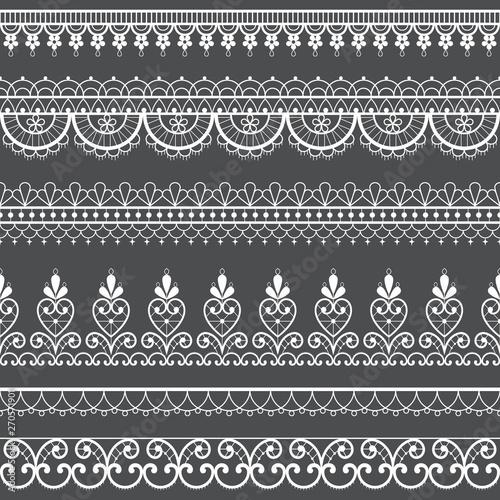 Lace Openwork Seamless Vector Pattern Retro Ornamental Repetitive