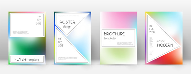 Flyer layout. Stylish glamorous template for Broch