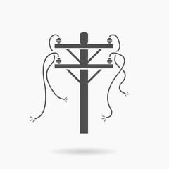 Power Cut Icon illustration vector
