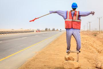 Construction worker manequin