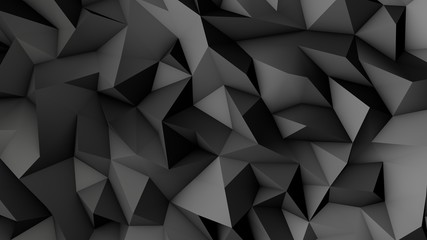 Abstract Low poly background.3d illustration