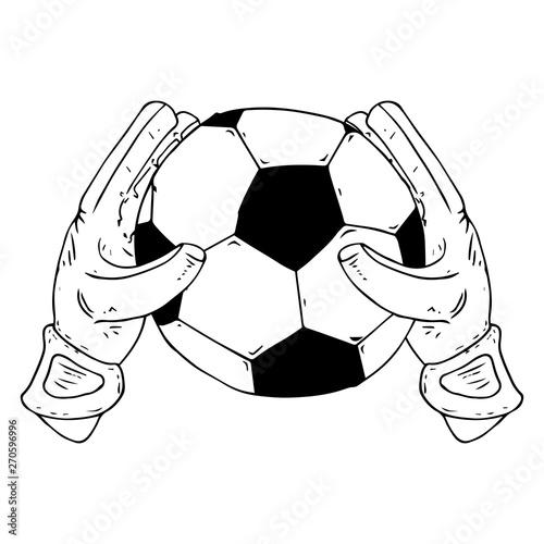 Glove Goalkeeper Icon Vector Illustration Of Goalkeeper
