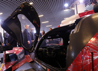 Prince Albert II of Monaco is seen during the inauguration of the Top Marques fair in Monaco