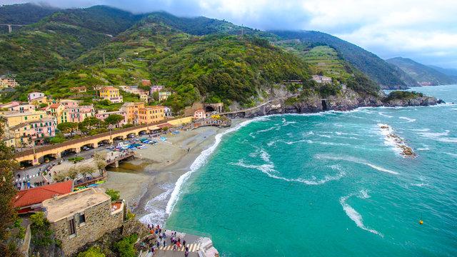 Monterosso al Mare, a village in the Cinque Terre, italy