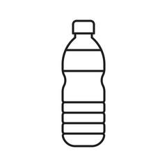 Fototapeta Plastic bottle vector illustration, line style icon