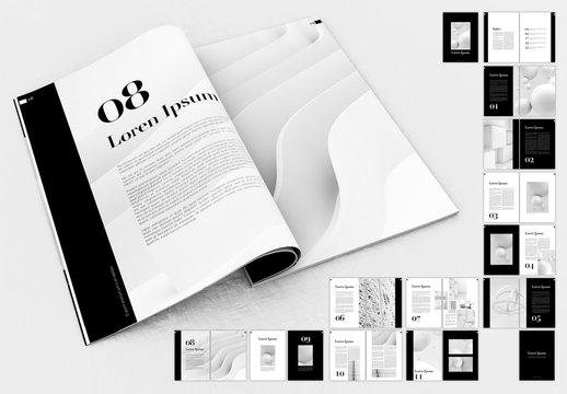 Elegant Black and White Portfolio Layout