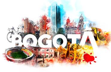 Foto auf Leinwand London roten bus Bogotá Colombia
