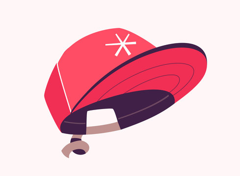 Snapback cap. Fashion concept. Cartoon vector illustration.