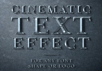 Cinematic Metal Scuplted Text Effect