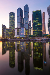 Moscow-city skyline, Moscow, Russia