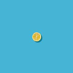 Lemon on Yellow Background