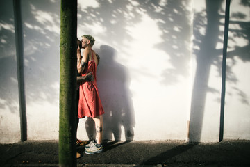 Kissing in a shadow