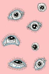 eye,background,cartoon,trip,pink,drawing